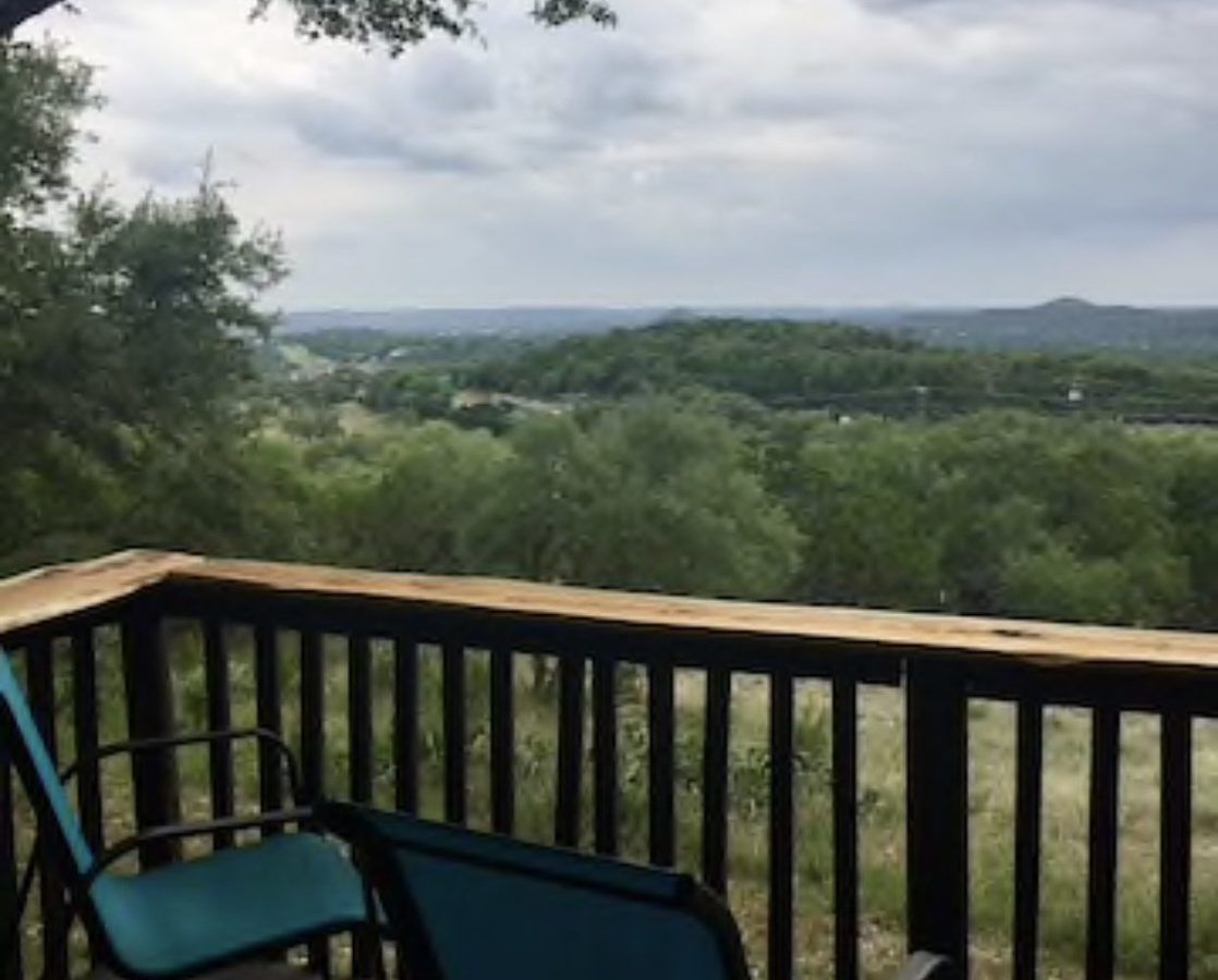 Texas Hill Country views off of the deck